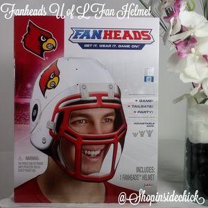 ❄4/$20 Louisville Cards Fanhead Football Helmet